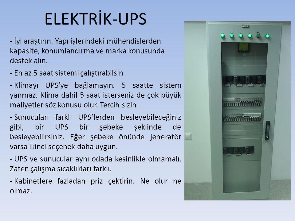 ELEKTRİK-UPS - İyi araştırın. Yapı işlerindeki mühendislerden kapasite, konumlandırma ve marka konusunda destek alın.