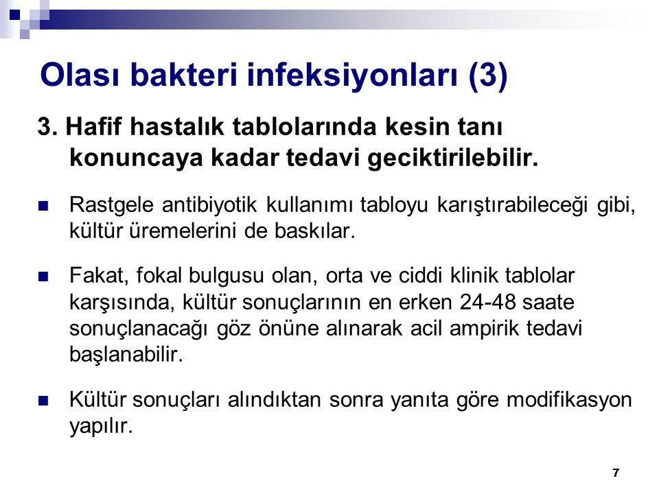 Olası bakteri infeksiyonları (3)