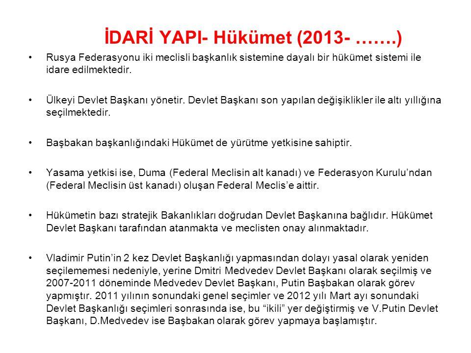 İDARİ YAPI- Hükümet (2013- …….)