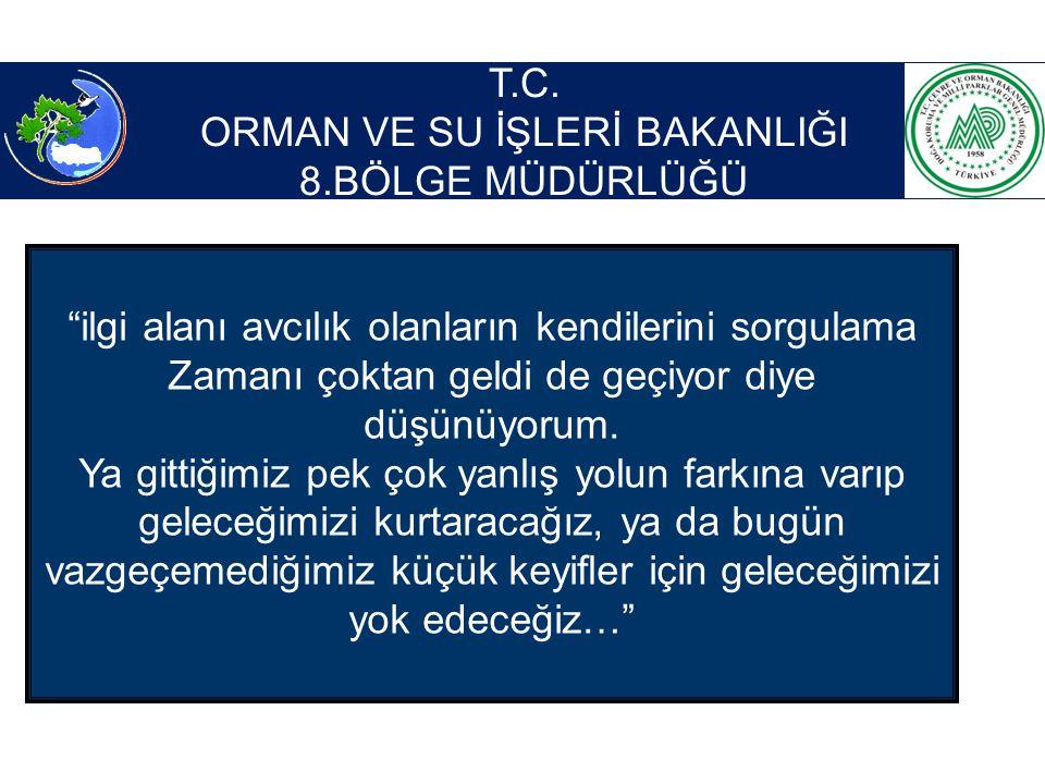ORMAN VE SU İŞLERİ BAKANLIĞI 8.BÖLGE MÜDÜRLÜĞÜ