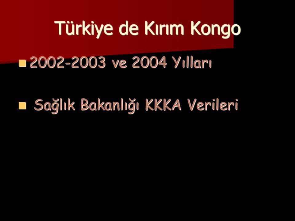 Türkiye de Kırım Kongo 2002-2003 ve 2004 Yılları