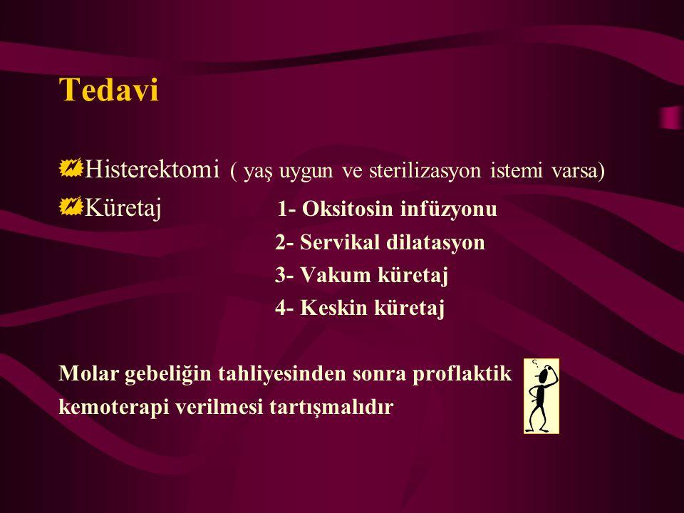 Tedavi Histerektomi ( yaş uygun ve sterilizasyon istemi varsa)