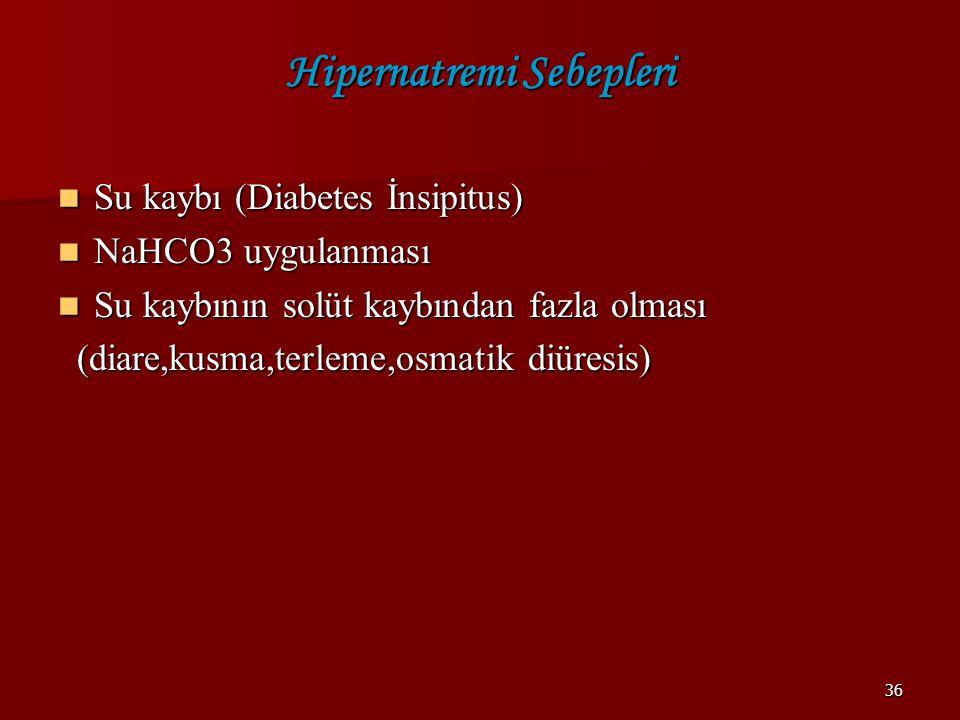 Hipernatremi Sebepleri