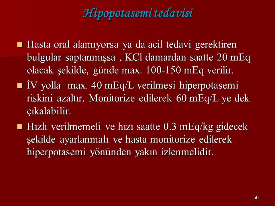 Hipopotasemi tedavisi