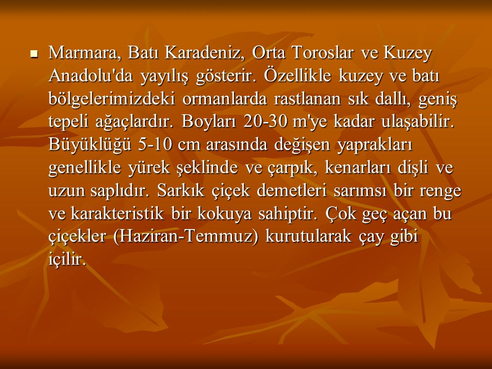 Marmara, Batı Karadeniz, Orta Toroslar ve Kuzey Anadolu da yayılış gösterir.