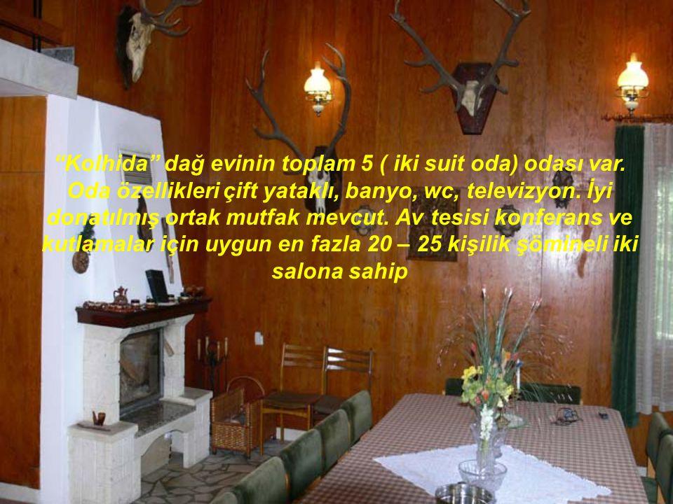 Kolhida dağ evinin toplam 5 ( iki suit oda) odası var