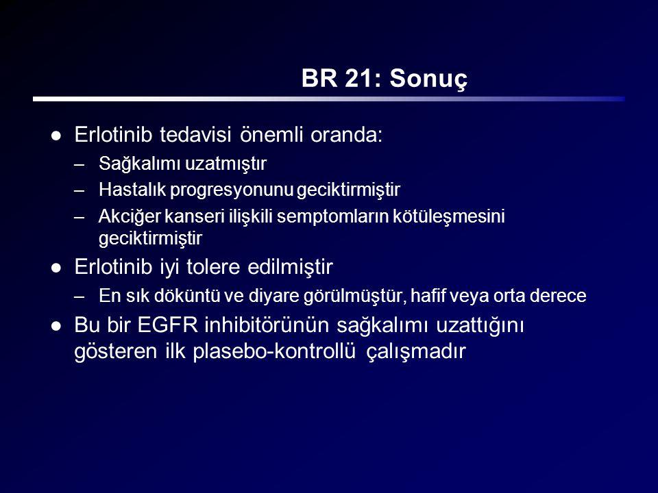 BR 21: Sonuç Erlotinib tedavisi önemli oranda: