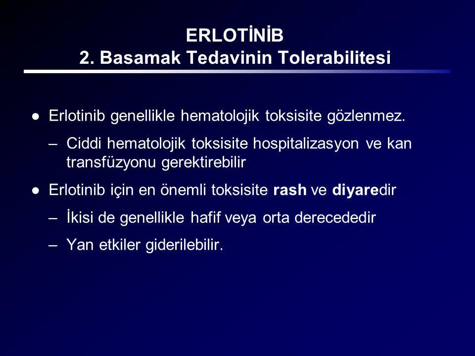ERLOTİNİB 2. Basamak Tedavinin Tolerabilitesi