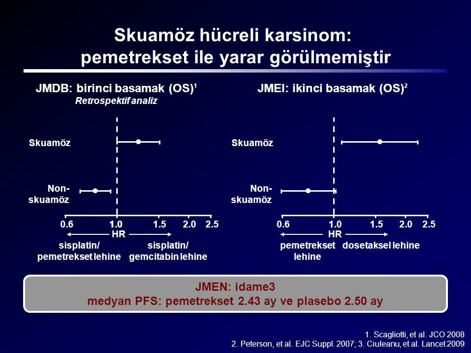 Skuamöz hücreli karsinom: pemetrekset ile yarar görülmemiştir