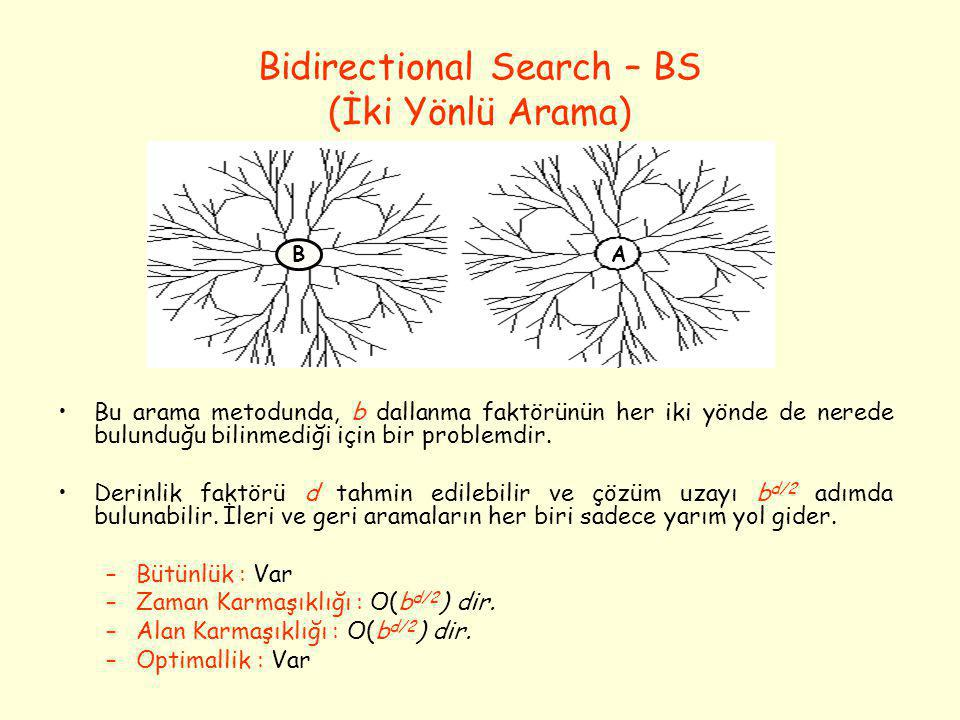 Bidirectional Search – BS (İki Yönlü Arama)