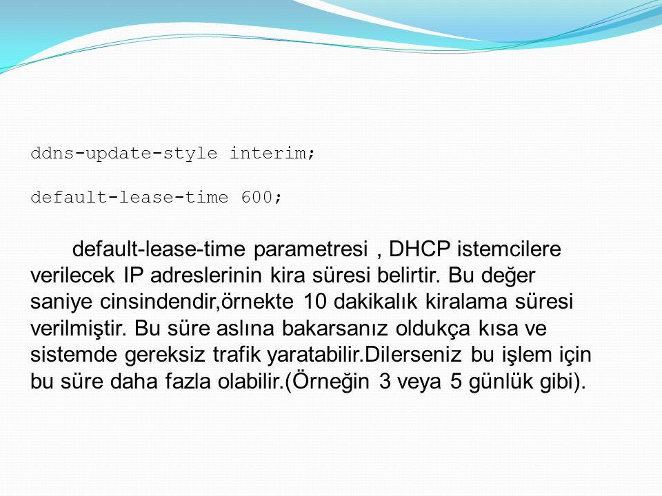 ddns-update-style interim;