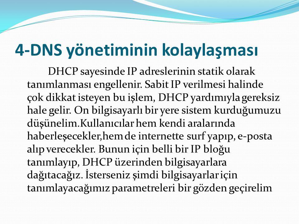 4-DNS yönetiminin kolaylaşması