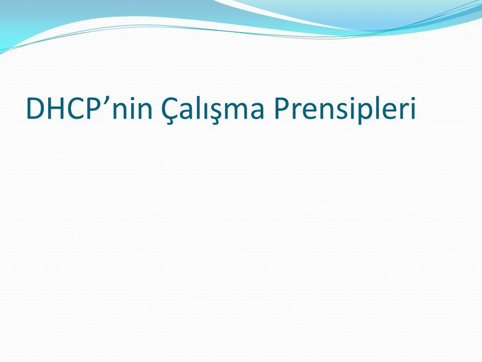 DHCP'nin Çalışma Prensipleri