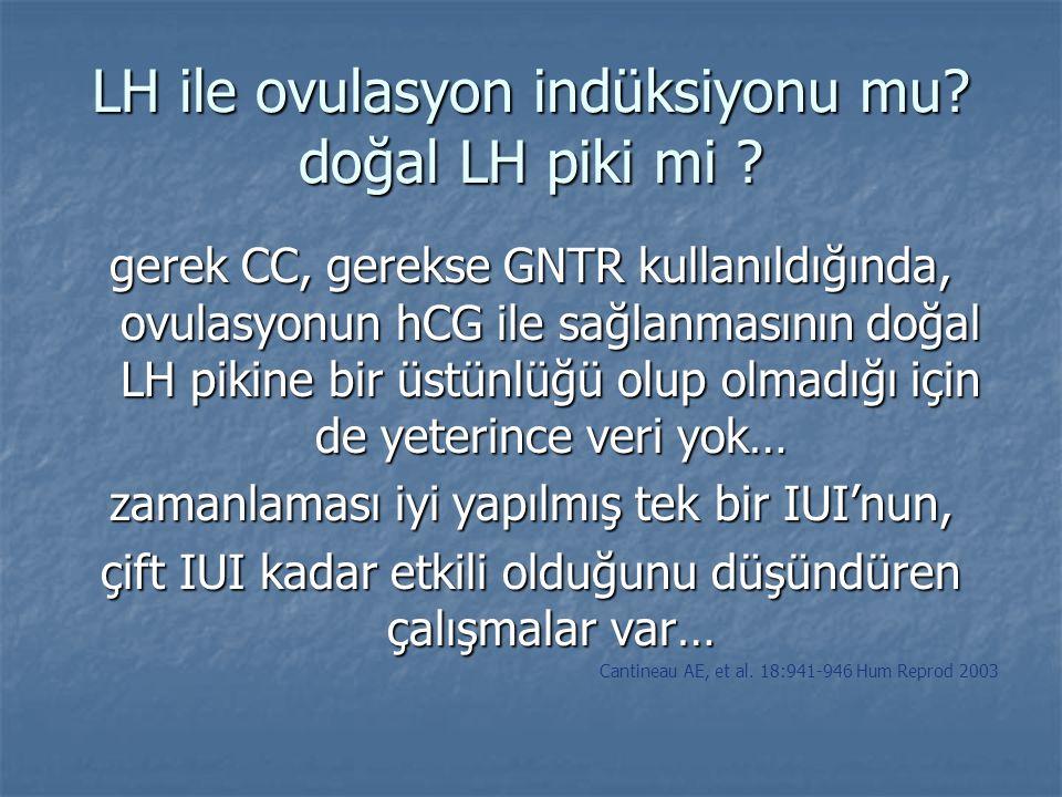 LH ile ovulasyon indüksiyonu mu doğal LH piki mi