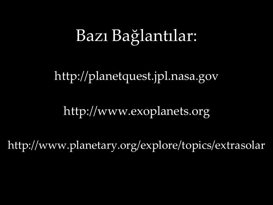 Bazı Bağlantılar: http://planetquest.jpl.nasa.gov