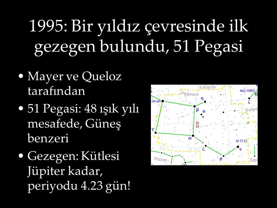 1995: Bir yıldız çevresinde ilk gezegen bulundu, 51 Pegasi