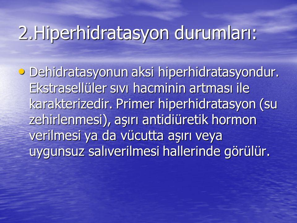 2.Hiperhidratasyon durumları: