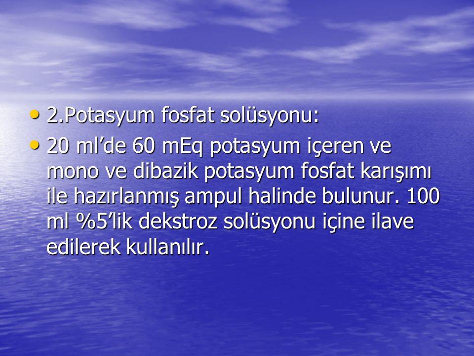 2.Potasyum fosfat solüsyonu: