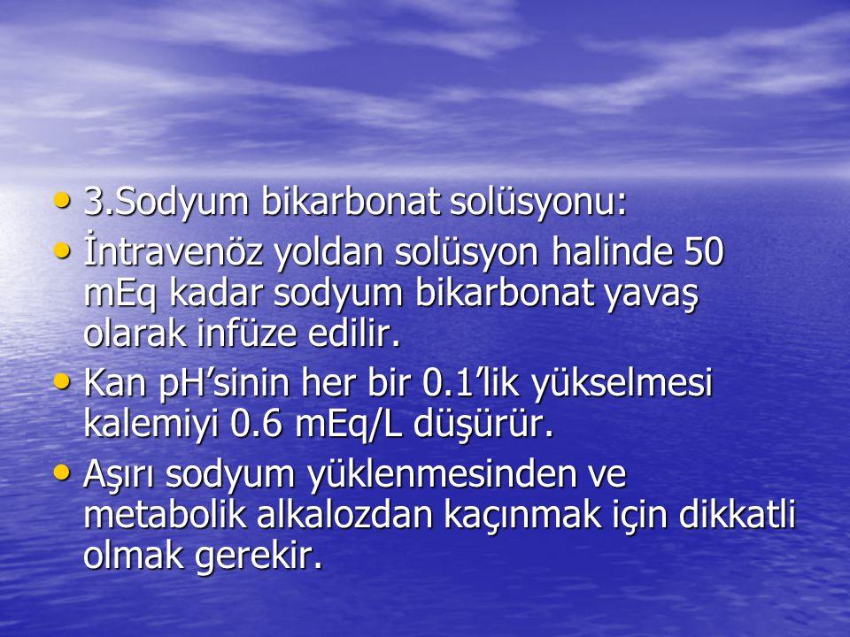 3.Sodyum bikarbonat solüsyonu: