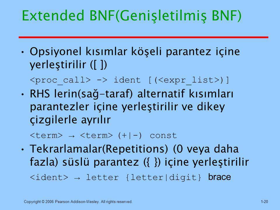 Extended BNF(Genişletilmiş BNF)