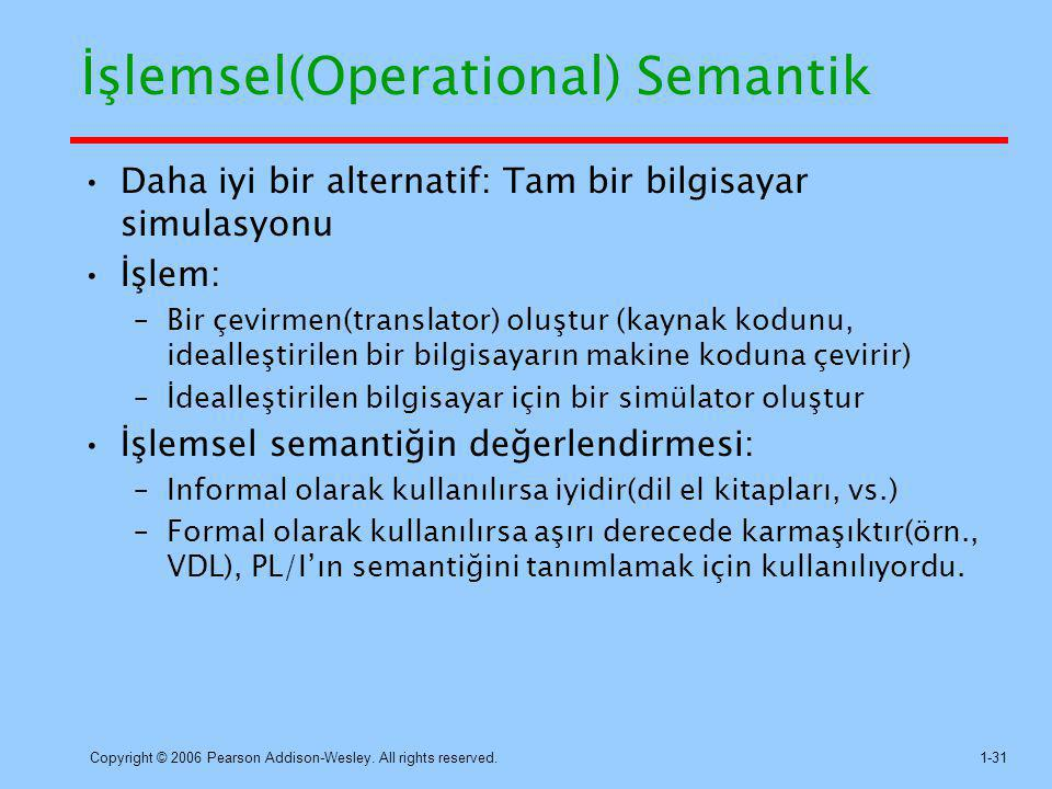 İşlemsel(Operational) Semantik