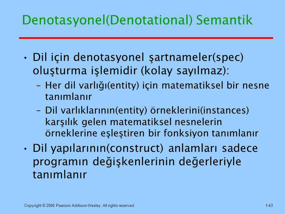 Denotasyonel(Denotational) Semantik