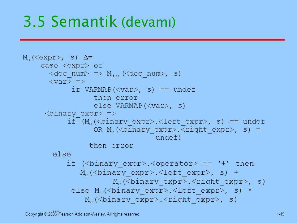 3.5 Semantik (devamı) else