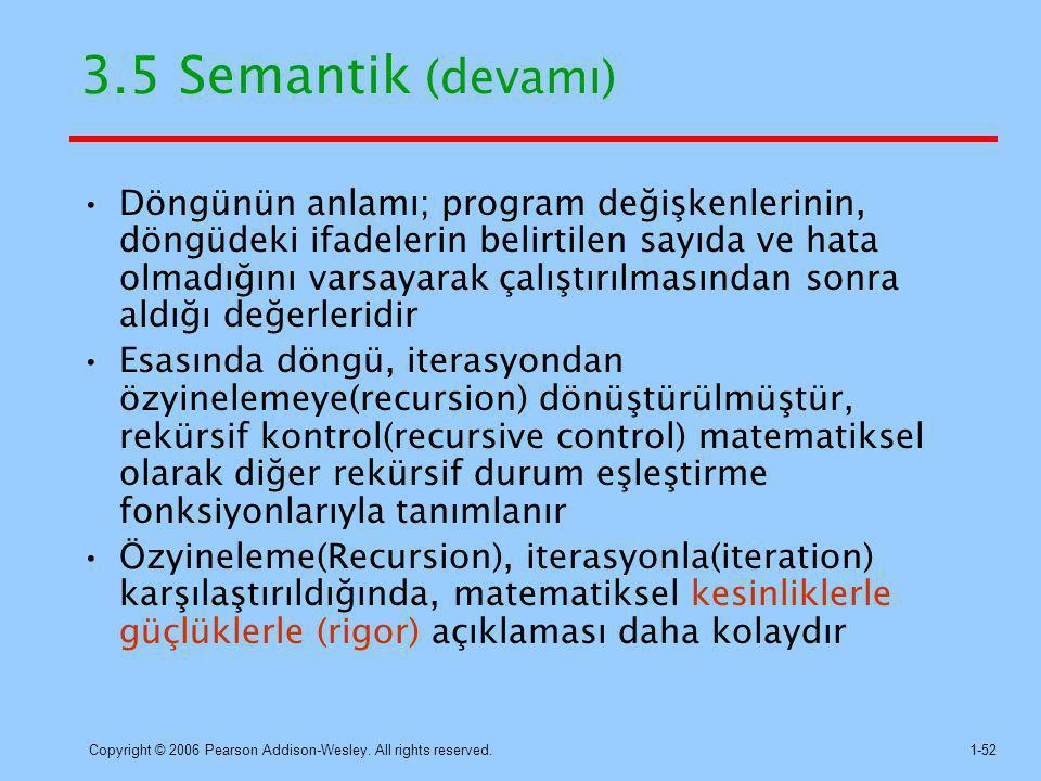 3.5 Semantik (devamı)