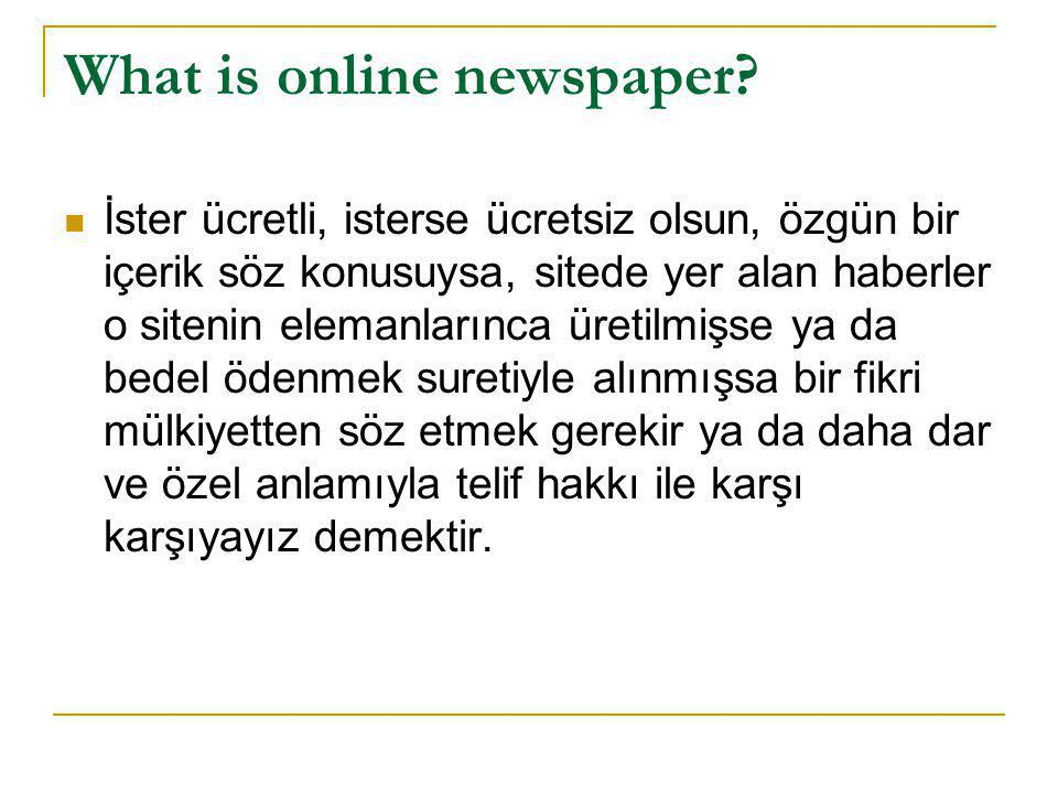 What is online newspaper