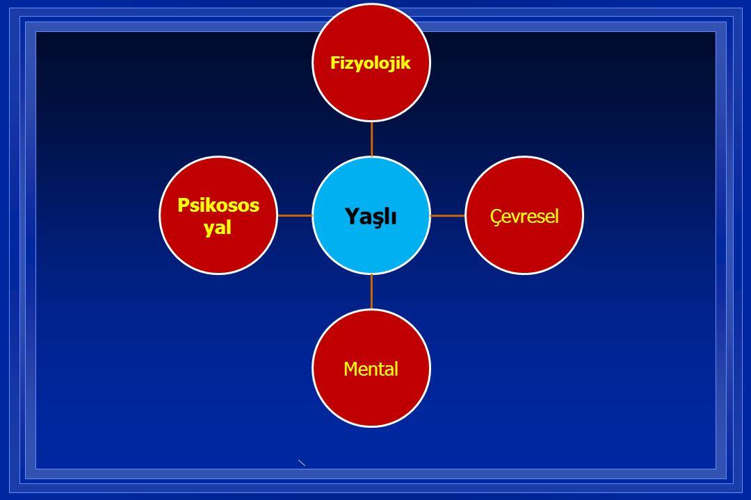 Yaşlı Fizyolojik Çevresel Mental Psikososyal