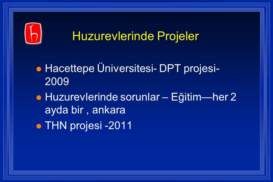 Huzurevlerinde Projeler