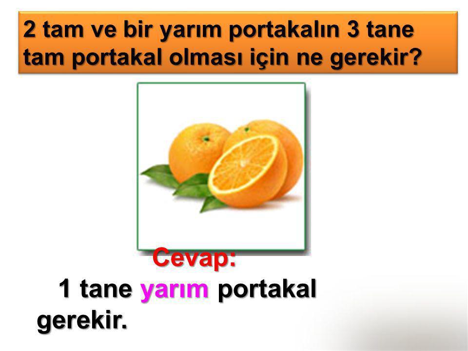1 tane yarım portakal gerekir.