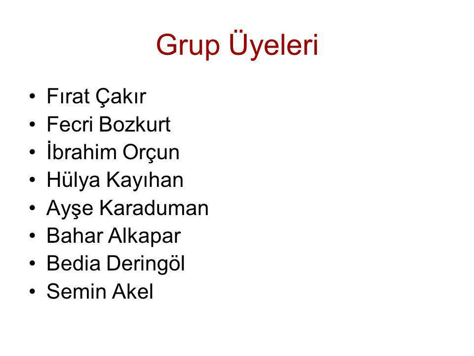 Grup Üyeleri Fırat Çakır Fecri Bozkurt İbrahim Orçun Hülya Kayıhan