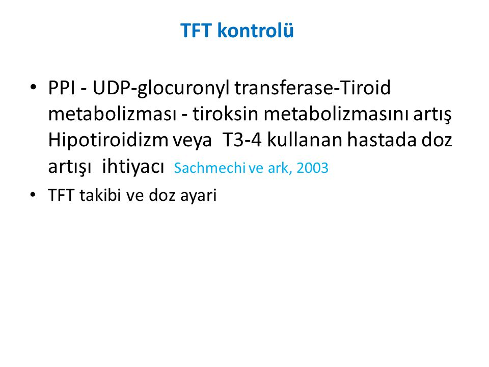 TFT kontrolü