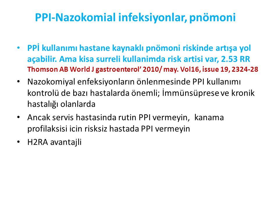 PPI-Nazokomial infeksiyonlar, pnömoni