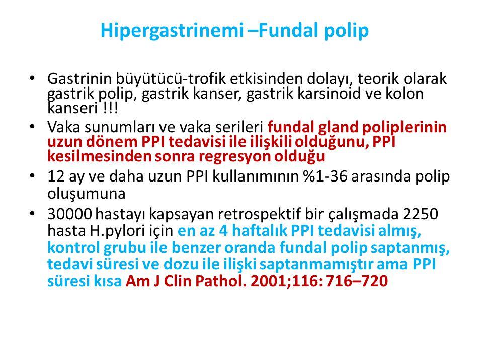 Hipergastrinemi –Fundal polip