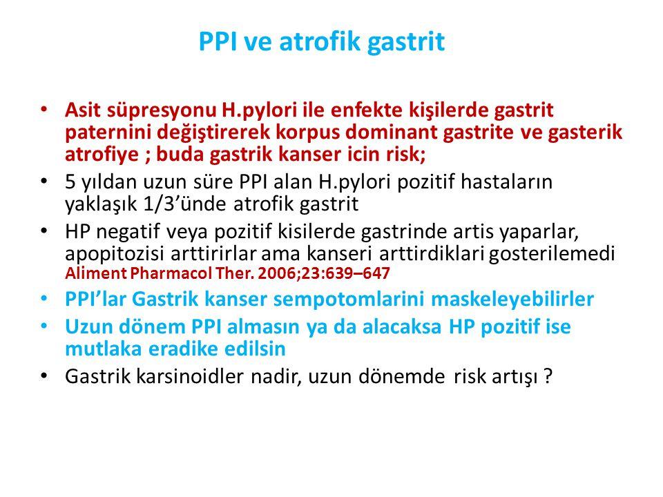 PPI ve atrofik gastrit