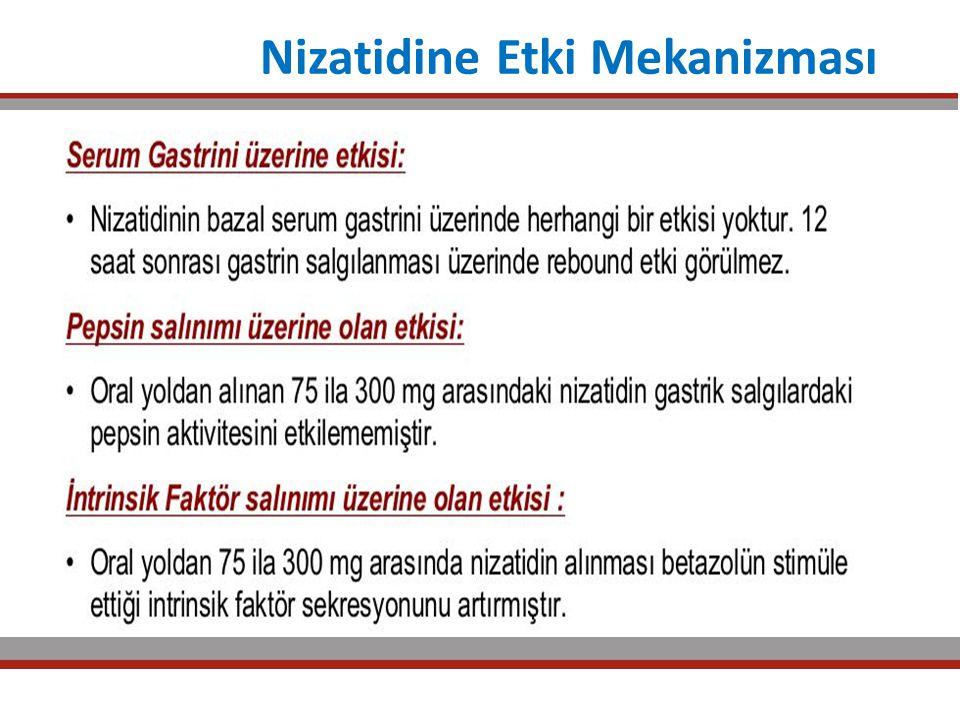 Nizatidine Etki Mekanizması