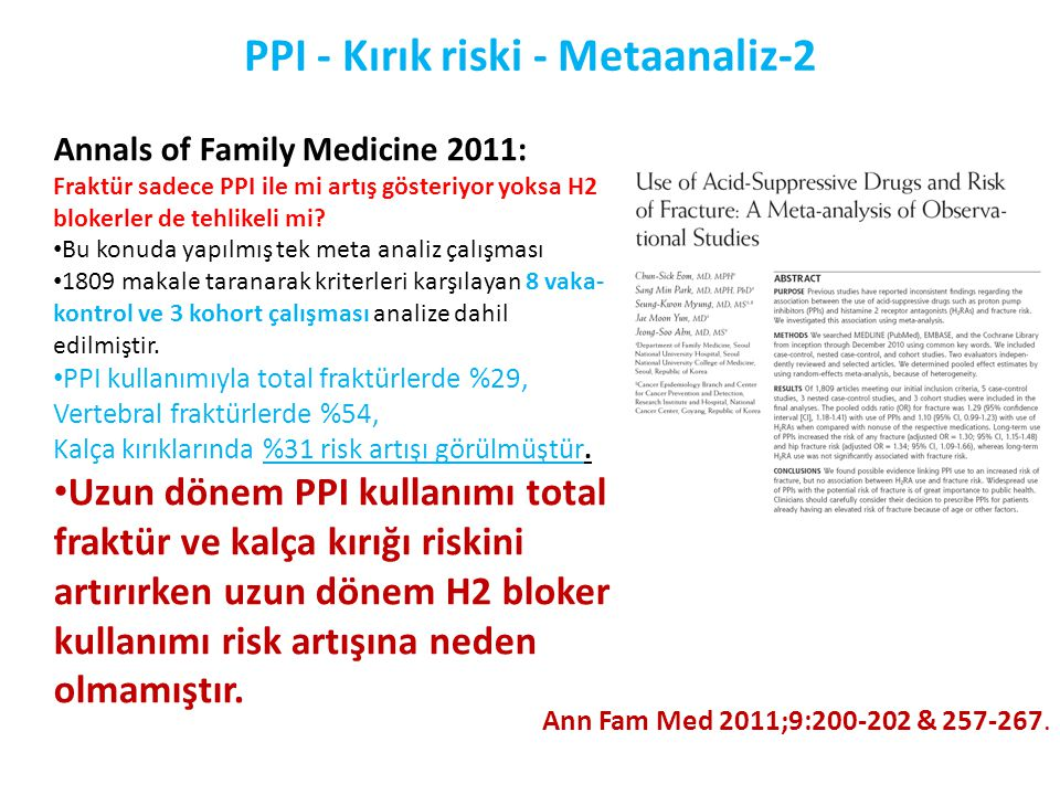 PPI - Kırık riski - Metaanaliz-2