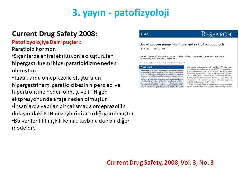 3. yayın - patofizyoloji Current Drug Safety 2008: