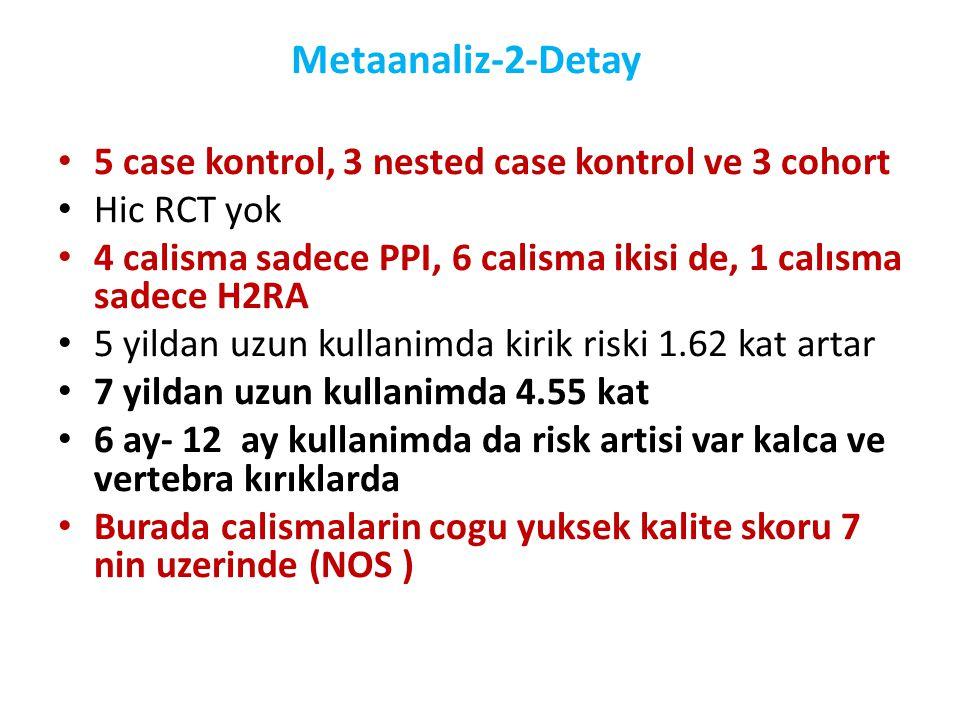 Metaanaliz-2-Detay 5 case kontrol, 3 nested case kontrol ve 3 cohort