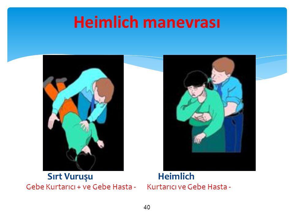 Heimlich manevrası Sırt Vuruşu Heimlich Gebe Kurtarıcı + ve Gebe Hasta - Kurtarıcı ve Gebe Hasta -