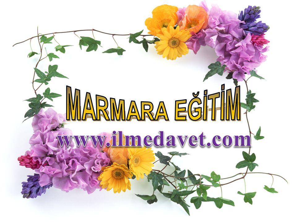 MARMARA EĞİTİM www.ilmedavet.com