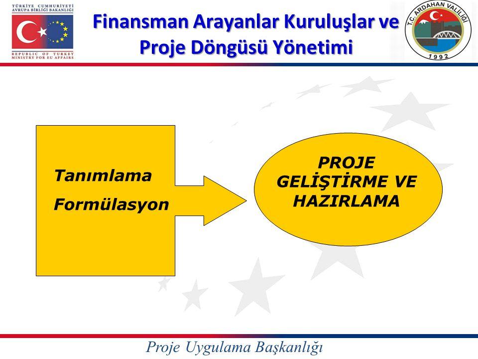 Finansman Arayanlar Kuruluşlar ve Proje Döngüsü Yönetimi