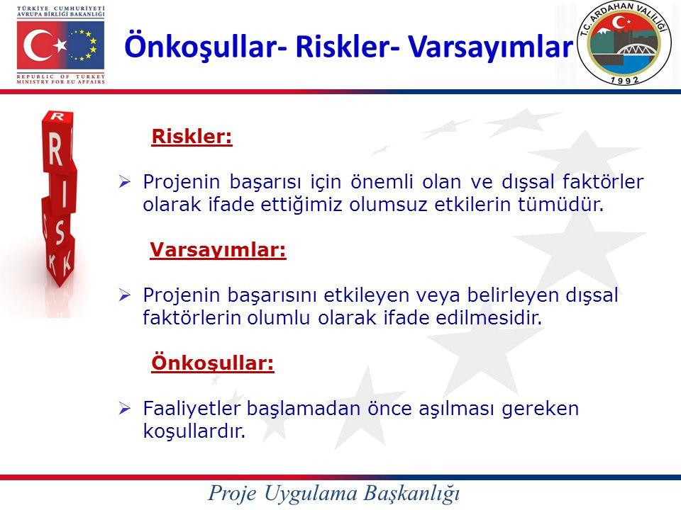 Önkoşullar- Riskler- Varsayımlar