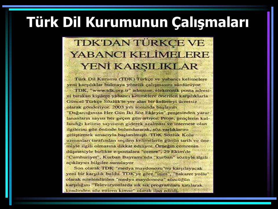 Türk Dil Kurumunun Çalışmaları