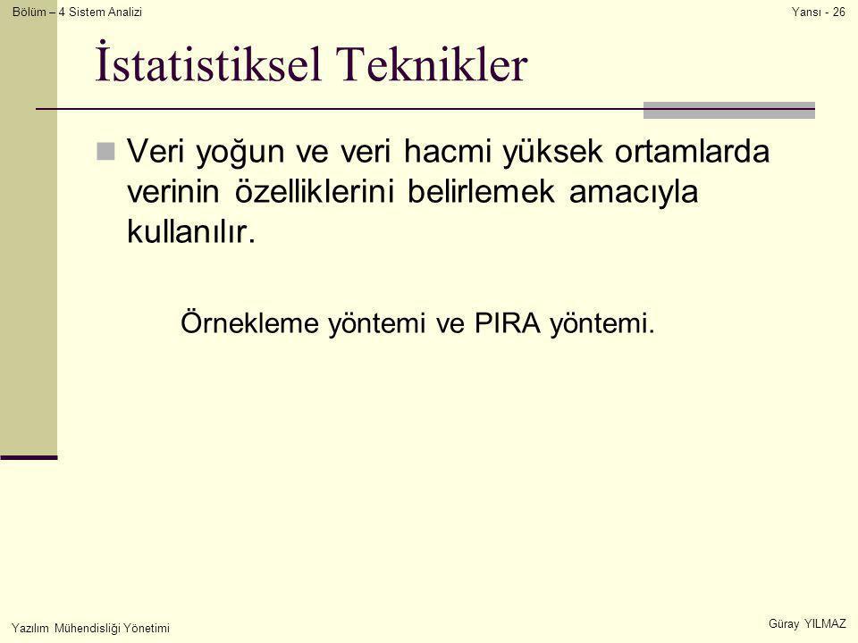 İstatistiksel Teknikler