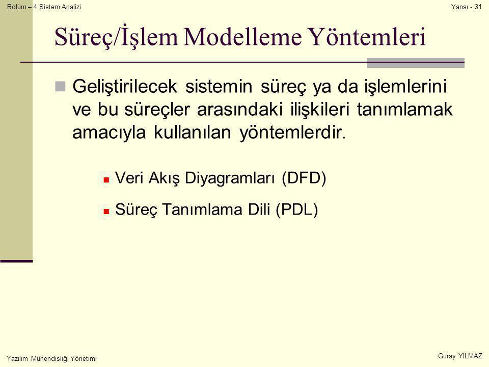 Süreç/İşlem Modelleme Yöntemleri