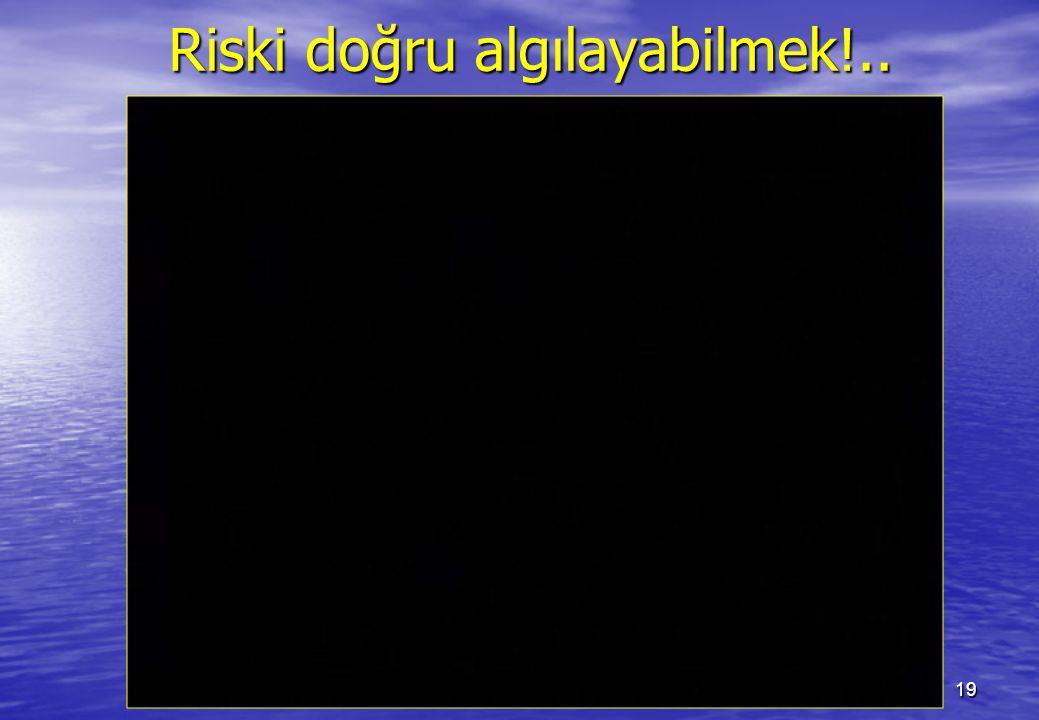 Riski doğru algılayabilmek!..