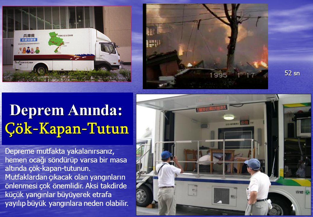 Deprem Anında: Çök-Kapan-Tutun